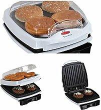 Kontaktgrill Deckel Sandwich-Maker 700 Watt Grill Hamburger Maker (Sandwich-Toaster, Multigrill, Tischgrill, Panini-Maker, Elektrogrill, Fettabtropfschale)