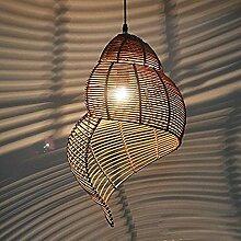 kontinental Pastorale Rattan Schnecke Essen Zimmer Decke Anhänger Lampen Creative Garden Studie Raum Anhänger Light Bar Cafe Shops Pendelleuchte , trumpet , a