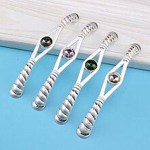 Kontinentale Diamant Drehknopf Schublade Schrank Griffe modernen Schuh Schrank Tür Türgriff,Weiße Diamanten,128mm