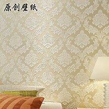 Kontinentale Relief Damaskus grüne 3D Vlies Tapete Schlafzimmer/Wohnzimmer TV-Hintergrundbild , 6705