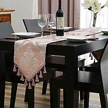 Kontinentale West Tabelle Tischläufer Die Rosa Prinzessin Wind Nach Hause TV Schrank Dekorative Stoff Couchtisch Tischläufer-A 32x240cm(13x94inch)