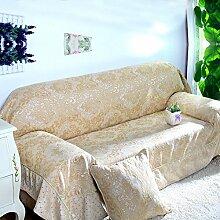 Kontinentalen Anti-schiebe/Volle Deckung Sofa Handtuch/Gepolstert Stoffbezug-C 180x180cm(71x71inch)