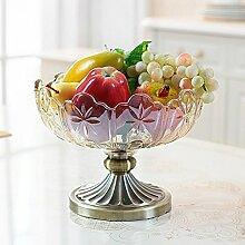Kontinentalen Früchte,Coffee Table Dekoration Zubehör,Wohnzimmer-ideen Und Praktischen Glas Obstschale,Hochzeit Geschenk Housewarminggeschenk
