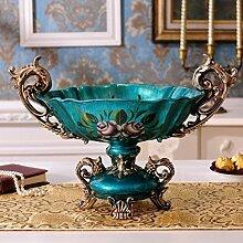 Kontinentalen Früchte,Retro Luxus Große Obstschale,Kreative Wohnzimmer Heimtextilien,Tisch Dekorationen Ornamente-A