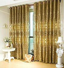 """Kontinentales luxuriöses Jacquard Wohnzimmer Fenster , 2*(56W×110""""""""L)"""