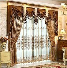 Kontinentales luxuriöses Jacquard Wohnzimmer Fenster Cutain , cutain, 60W x 96L