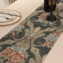 Kontinentales Luxus chinesische Tischdecken amerikanischen Dorf TV-Schrank Tisch Tuch wild Bett, 32*210cm Handtuch