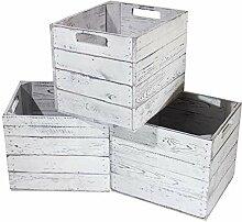 Kontorei® Holzkiste Vintage für Kallax Regale