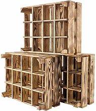 Kontorei® Neue geflammte/braune Kiste für