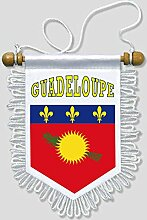 KOO Interactive - Guadeloupe - 13 x 15 cm - Auto Wand Fahne Flagge Wimpel