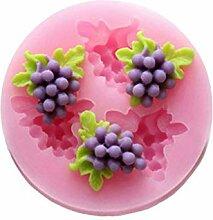 Koobysix Silikonform Gießformen, Obst Erdbeer