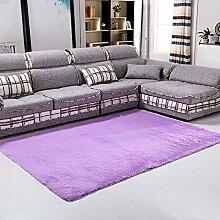 KOOCO Anti-Slip Dicke große Teppiche moderner Bereich Dekorateur, Wolldecke für Wohnzimmer Schlafzimmer Shaggy Teppich E2S, Lila