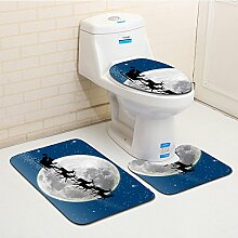 KOOCO F 3 stücke duschmatte Sets 3D Weihnachten