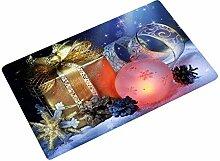 KOOCO Frohe Weihnachten Fußmatte Flanell Boden