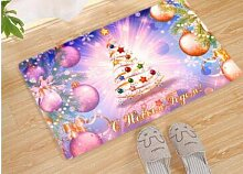 KOOCO Frohe Weihnachten Fußmatte Weihnachtsmann