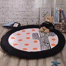 KOOCO Neue Mode Baumwolle runder Spielteppich Kaninchen/Bär Tiere Teppich Wohnzimmer Kinderzimmer rutschfeste Matte Baby krabbeln Teppiche Geburtstag Geschenk, 2, Durchmesser 1500 mm