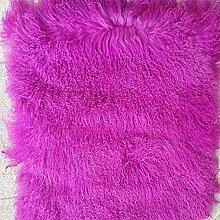 KOOCO Purpurrote mongolische pelzdecke für Bett