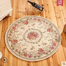 KOOCO Runde Dornier Jacquard Einfache Landschaft Teppich für Wohnzimmer Blume Schlafzimmer Teppiche Fußmatte Couchtisch Teppich, F, 100 cm Durchmesser