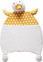 KOOCO Superfeine Polyestergewebe Cartoon Kaninchen/Ente Muster weichen Kinder Teppich Bedside Mat Baby krabbeln Wolldecke warme Kissen, D, 66cmx100CM