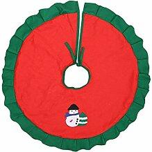 KOOCO Tropische Partei Weihnachtsbaum Rock Roter