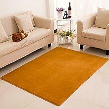 KOOCO Wasser absorbieren Anti Slip Rechteck Plain Farbe Flanell Teppich Schlafzimmer dekorieren Kinder großen Bereich Wolldecke für Wohnzimmer Moderne, Fläche, Khaki, 120 X 160 CM