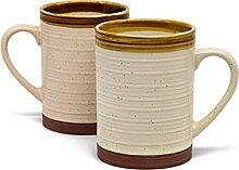 Kook Terrakotta-Kaffeebecher-Set aus gesprenkelter