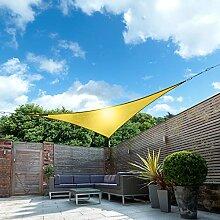 Kookaburra 5,0m Dreieck Gelb Gewebtes Sonnensegel