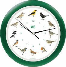 KooKoo - Singvogel Wanduhr, grün