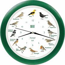 KooKoo - Singvogel Wanduhr RC, grün