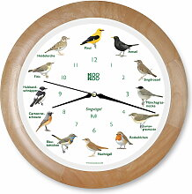 KooKoo - Singvogel Wanduhr RC, Holz