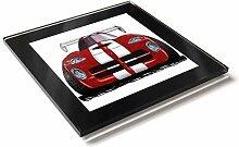 Koolart Cartoon Auto Dodge Viper GTS Front View