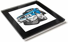 Koolart Cartoon Auto Ford XY Falcon Gt Glas Tisch