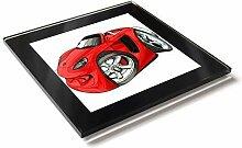 Koolart Cartoon Auto Porsche Carrera Gt Glastisch