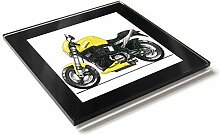 Koolart Cartoon Motorrad Buell Lightning X1 Glas