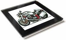 Koolart Cartoon Motorrad Moto Guzzi Sport VII