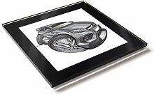 Koolart Karton Auto Mercedes A45 AMG Glas Tisch
