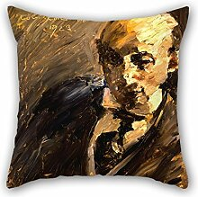 KooNicee 20 X 20 Inches / 50 By 50 Cm Oil Painting Lovis Corinth - Portrait Of Alfred Kuhn Pillowcover ,twice Sides Ornament And Gift To Sofa,kids Room,lover,bedroom,seat,home Office