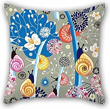 KooNicee Flower Pillow Covers ,best For Play Room,bedroom,couch,sofa,girls,dance Room 16 X 16 Inches / 40 By 40 Cm(both Sides)