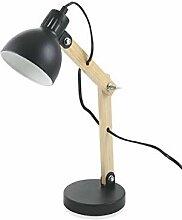 Kooper Industry Lampe Holz und Metall schwarz
