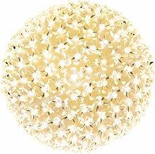 Kooper Xmas Kugel Lichterkette Blumen LED warm mit