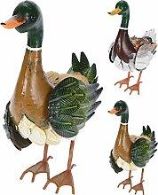 Koopman Ente aus Metall, Gartenfigur 40 cm hoch,