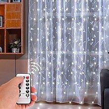KooPower LED Lichtervorhang Batteriebetrieben,3 m