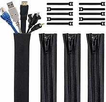 Kootek Kabel-Managementhülsen mit 10 Kabelbinder,