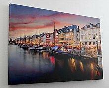 Kopenhagen City Leinwand Canvas Bild Wandbild