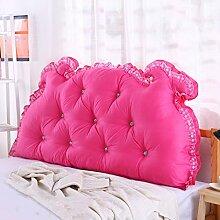 Kopfbrett Kissen Big Back Pad Sofa Rückenlehne Soft Case Bett Kissen Baumwolle Lendenwirbel Lesekissen ( Farbe : Light pink , größe : 180*70cm )