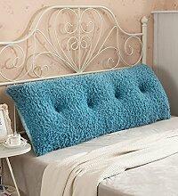 Kopfbrettkissen Baumwolle Bett Kissen Doppelbett Rückenlehne Kissen Bedside Big Headboard Kissen ( Farbe : H , größe : 1m )