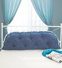 Kopfbrettkissen Baumwolle Bett Kissen Doppelbett Rückenlehne Kissen Bedside Big Kopfteil Kissen waschbar ( Farbe : H , größe : 1.2m )
