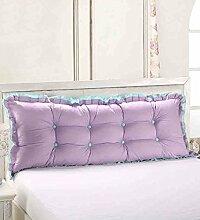 Kopfbrettkissen Baumwolle Bett Kissen Doppelbett Rückenlehne Kissen Bedside Big Headboard Kissen ( Farbe : A , größe : 1m )
