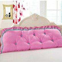 Kopfbrettkissen Baumwolle Bett Kissen Doppelbett Rückenlehne Kissen Bedside Big Headboard Kissen ( Farbe : D , größe : 1.8*0.6m )
