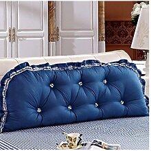 Kopfbrettkissen Baumwolle Bett Kissen Doppelbett Rückenlehne Kissen Bedside Big Headboard Kissen ( Farbe : B , größe : 1.5*0.6m )